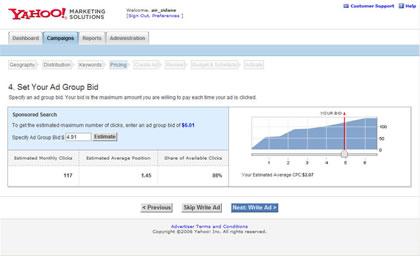 Yahoo Search Marketing Panama Dashboard