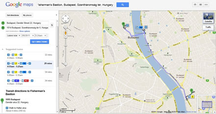 Google Maps With Public Transportation Directions